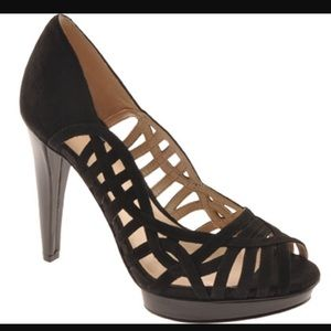 Nine West Speedup Wedge Platform Heels Peep Toe