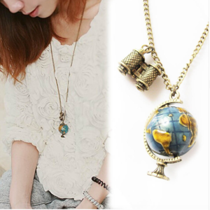3D Globe Necklace --Perfect for travel lovers!!