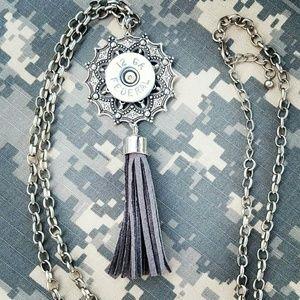 12-gauge shotgun shell tassel necklace