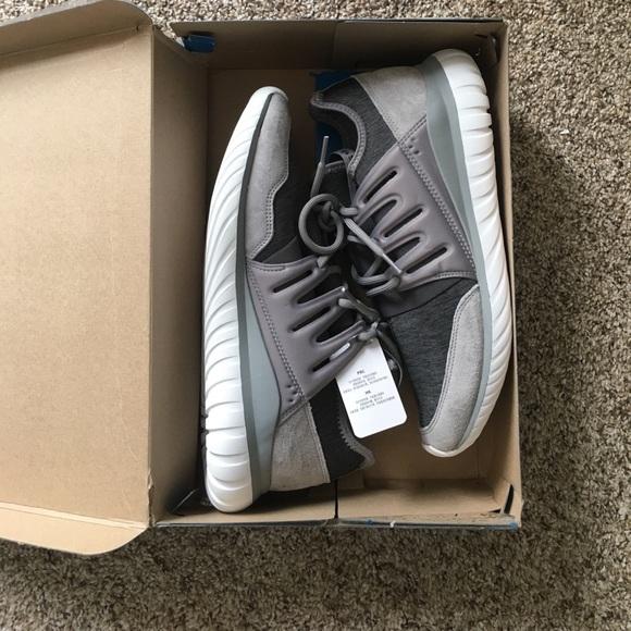 8c549257da05 Adidas Tubular Radial Fleece Grey Charcoal sz 11.5