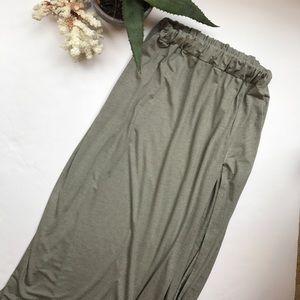 Dresses & Skirts - European Maxi Skirt with Side Slit
