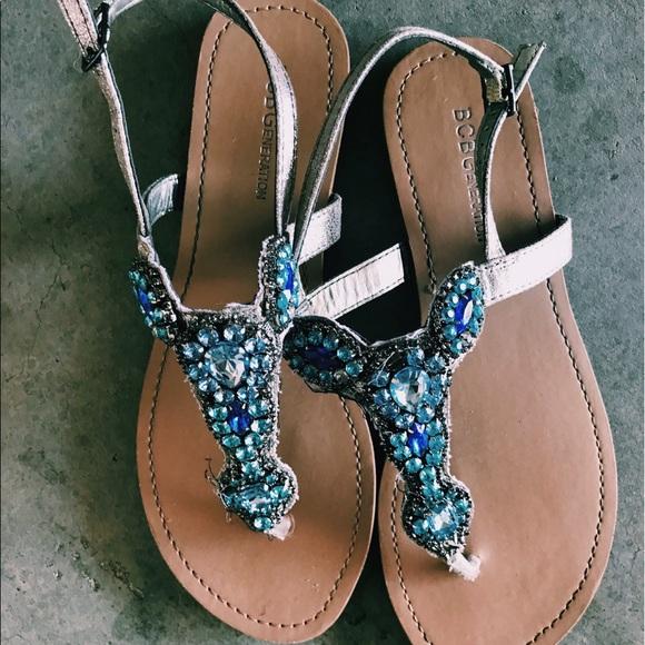 e9881e602afa80 BCBGeneration Shoes - BCBG Generation Thong Jeweled Sandals