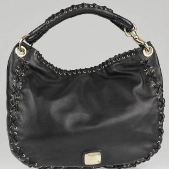 ade31dd577 Jimmy Choo Handbags - JIMMY CHOO BLK Leather Corset Stitch Sky Hobo Bag