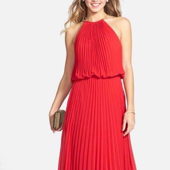 0c54fea97a12 Xscape Dresses   Pleated Blouson Lace Chiffon Dress   Poshmark