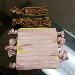 Gold and Pink Hair Ties!