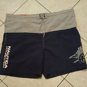 Vtg nautica competition swim shorts sz.large