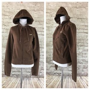 💸Le Tigre brown zipped hoodie in size Small