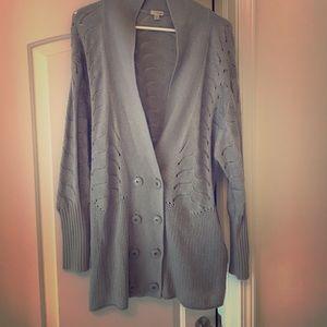 Hinge gray cardigan sweater