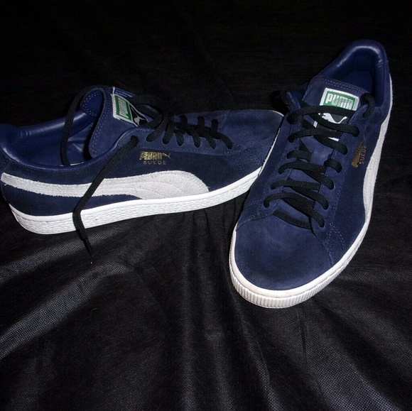 purchase cheap 03817 81970 Mens Puma Suede Classic Navy Blue Size 8.5 Shoes!