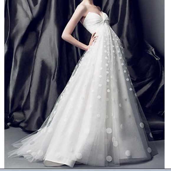 Oscar De La Renta Dresses Brand New Polkadot Wedding Dress Poshmark