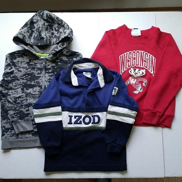 Izod 3 Pcs Boy 39 S Sweater Sweatshirt Bundle Size 4t