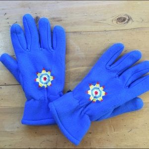 Accessories - Fleece Embroidered Gloves