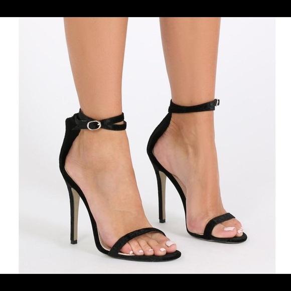 Navy Heels Public Desire Shoes