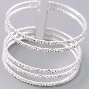 Jewelry - 🔥🔥Natasha Silver & Diamond Bracelet (Faux)🔥🔥
