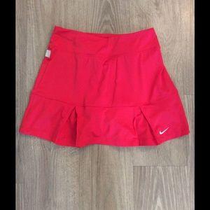Women's Red Nike tennis skort