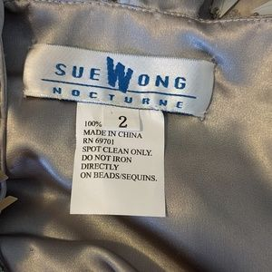 Sue Wong Dresses - RARE Silver Beaded Silk Sue Wong Nocturne