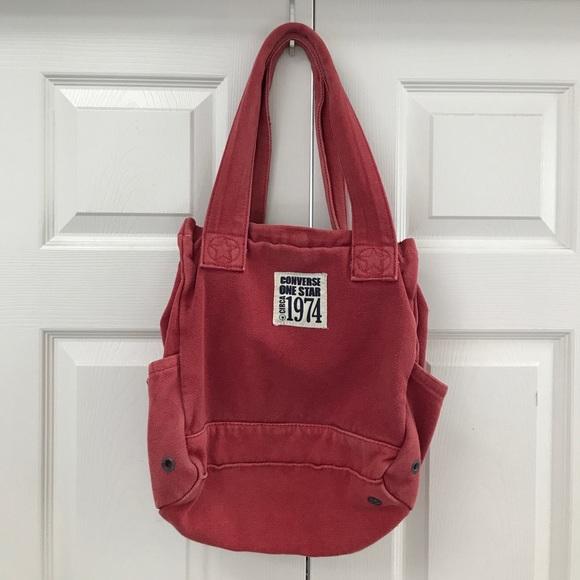 Converse Handbags - Converse Red Canvas Tote Bag 772937c6f94ae