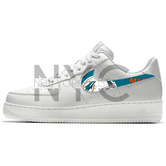 Miami Dolphins Nike Air Force 1 Custom Men