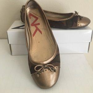 Anne Klein Saba Black Flats Ballet Shoes