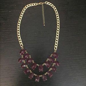 Purple & Gold Bubble Necklace