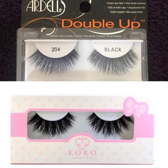 405d66cd9b1 Makeup | Koko Lashes Stella Ardell Double Up 204 Lashes | Poshmark