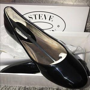 Steve Madden Black Heaven Patent Ballet Flat