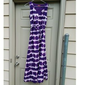 Merona Purple and White Maxi