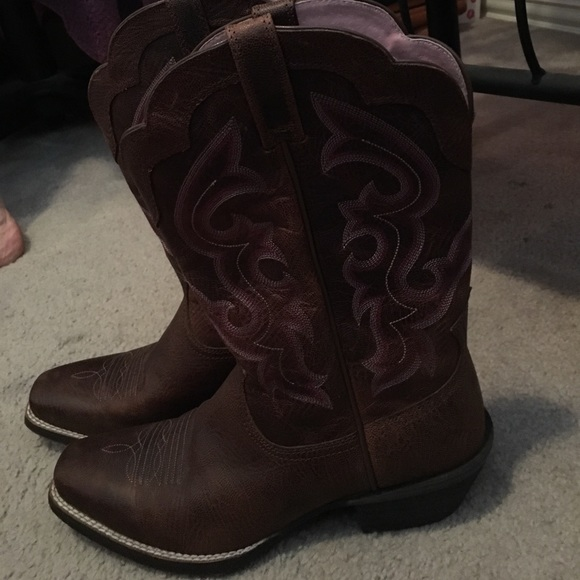 42 ariat shoes ariat pink and brown cowboy boots
