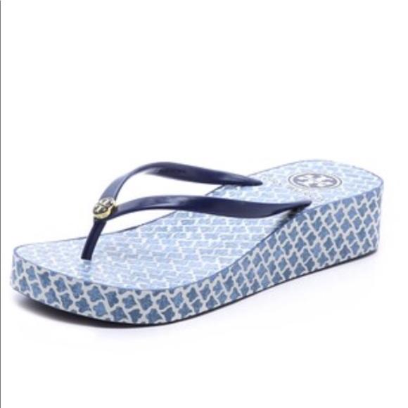 9083cdbcf Tory Burch Ultramarine Thandie Wedge Sandals