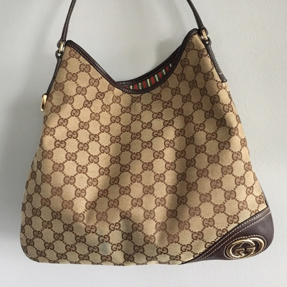 fab7a5f06963 Gucci Bags | New Britt Canvas Hobo | Poshmark
