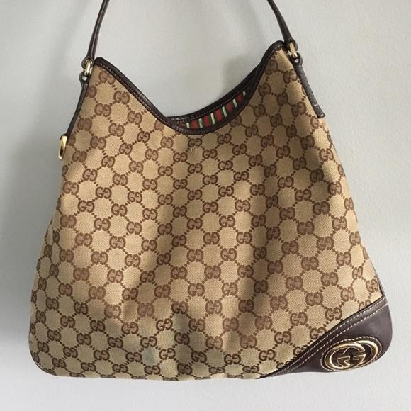 ef9a9f80d45e Gucci Bags | New Britt Canvas Hobo | Poshmark