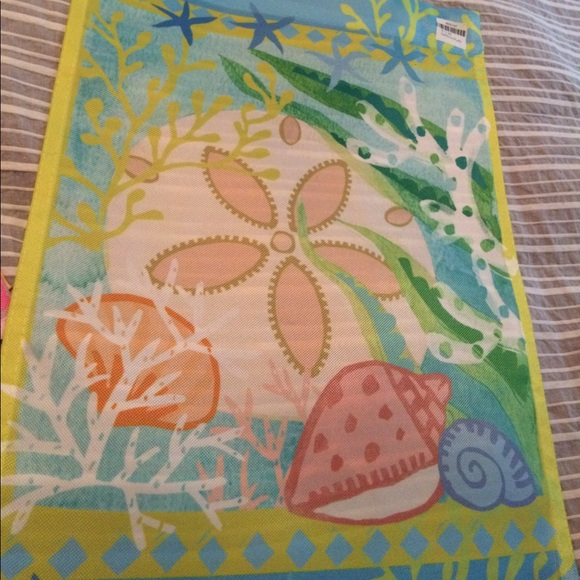 33 off studio m accessories decorative outdoor garden flag seashell motif new from kim 39 s - Studio decoratie m ...