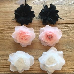 Other - Girls Set of 6 Flower Clip Bows