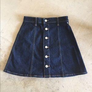 Alexa Chung for AG jean skirt