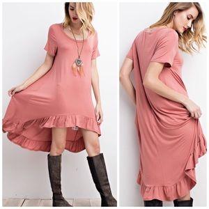 Rose Ruffle hi lo dress