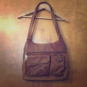 Brown leather FOSSIL bag