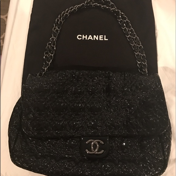 bb1dd665938900 CHANEL Bags | Jumbo Patent Camellia Flower Moscow Bag | Poshmark