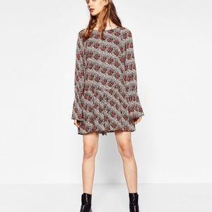 Zara printed ruffle jumpsuit