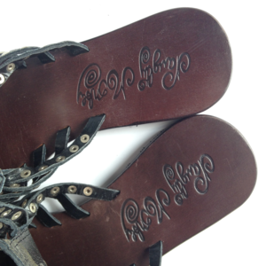 a11d082b1282 naughty monkey Shoes - Naughty Monkey Caged Leather Flat Sandals