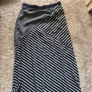 Dresses & Skirts - Blue and gray striped maxi skirt