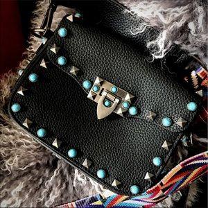Handbags - Studded/Tribal Strap Purse