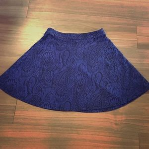 Romeo & Juliet Couture fit and flair paisley skirt