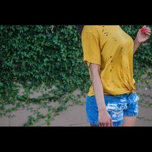 Distressed shirt