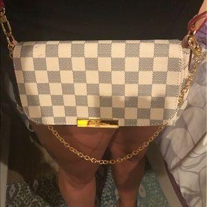 Handbags - Lv inspired mm white cross body or shoulder bag