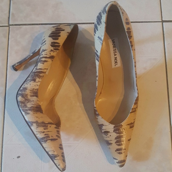 Vanessa noel scarpe  Size  Size  10 Pelle Pumps Snakeskin   Poshmark 3773cd