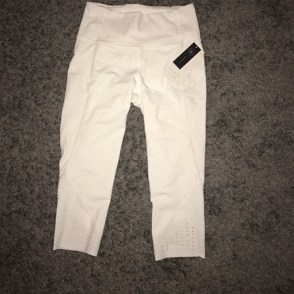 18% off lululemon athletica Pants - NWT Brand new white ...