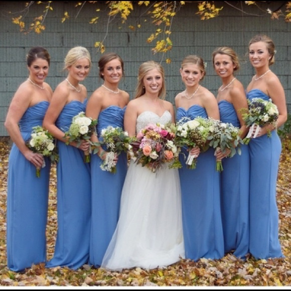 49b320f7bb9 M 59681ced620ff7ef8900f5cd. Other Dresses you may like. Social Bridesmaids  Strapless Georgette Gown