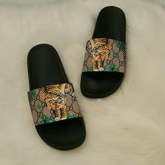 658fc5001c2 Gucci Shoes - Gucci Bengal Tiger Slides
