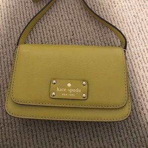 Kate Spade Wellesley Flynn yellow crossbody purse