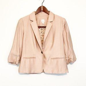 Lauren Conrad Blush Pink Blazer Gathered Sleeves